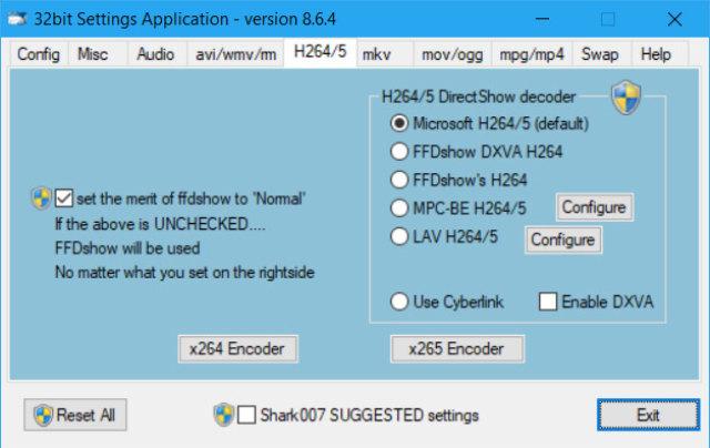 ADVANCED Codecs(影音解码包) v12.7.4 for Win 7/8/10 + v7.1.0 for Win XP