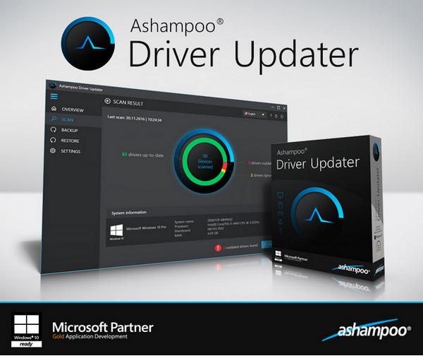 Ashampoo Driver Updater(阿香婆驱动安装) v1.2.1.53382 中文破解版