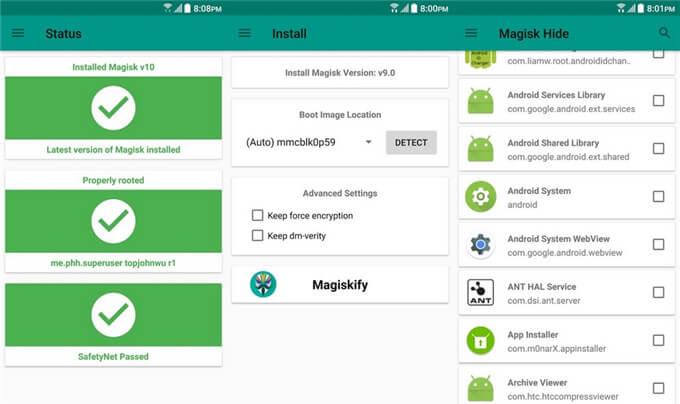 Magisk Manager v8.0.4+卡刷包 v21.2.0 +XP框架+指纹支付模块