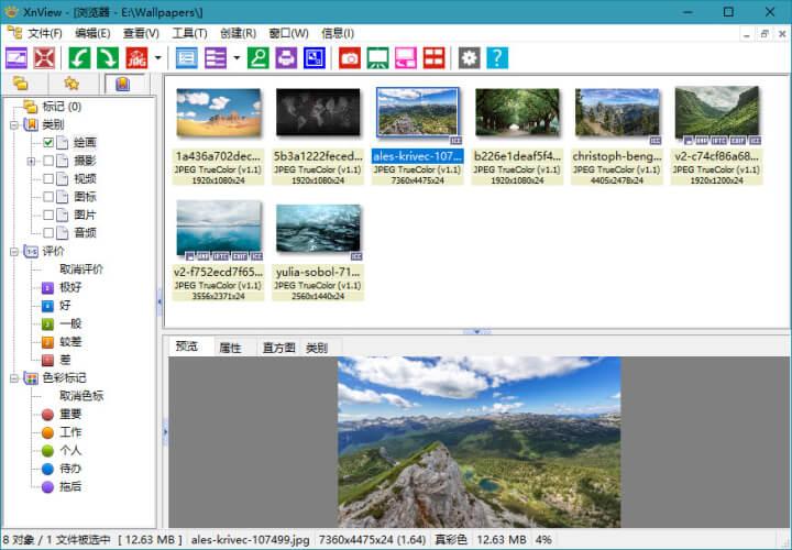 XnView v2.48 小巧免费超级好用的看图软件
