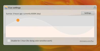 f.lux - 随时间改变屏幕色温!全天候保护眼睛健康软件!